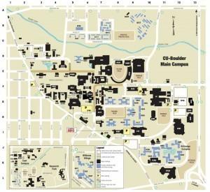 Colorado Boulder Campus Map.Cu Campus Map University Of Colorado Online Visitor S Guide