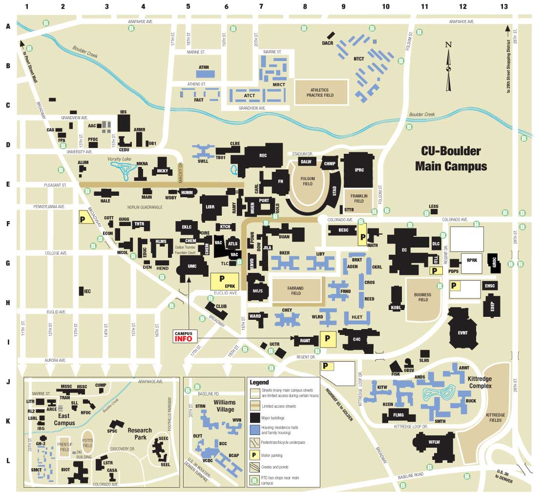 CU-Campus-Map | University of Colorado Online Visitor\'s Guide