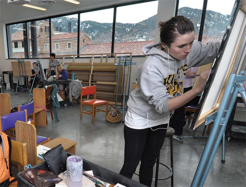 CU Art Student Painting
