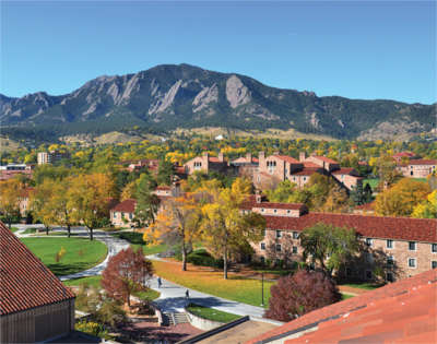 CU Boulder from above