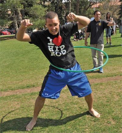 CU student hula hooping