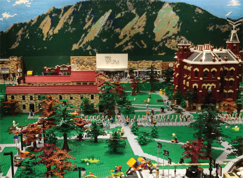 Lego model of CU Boulder