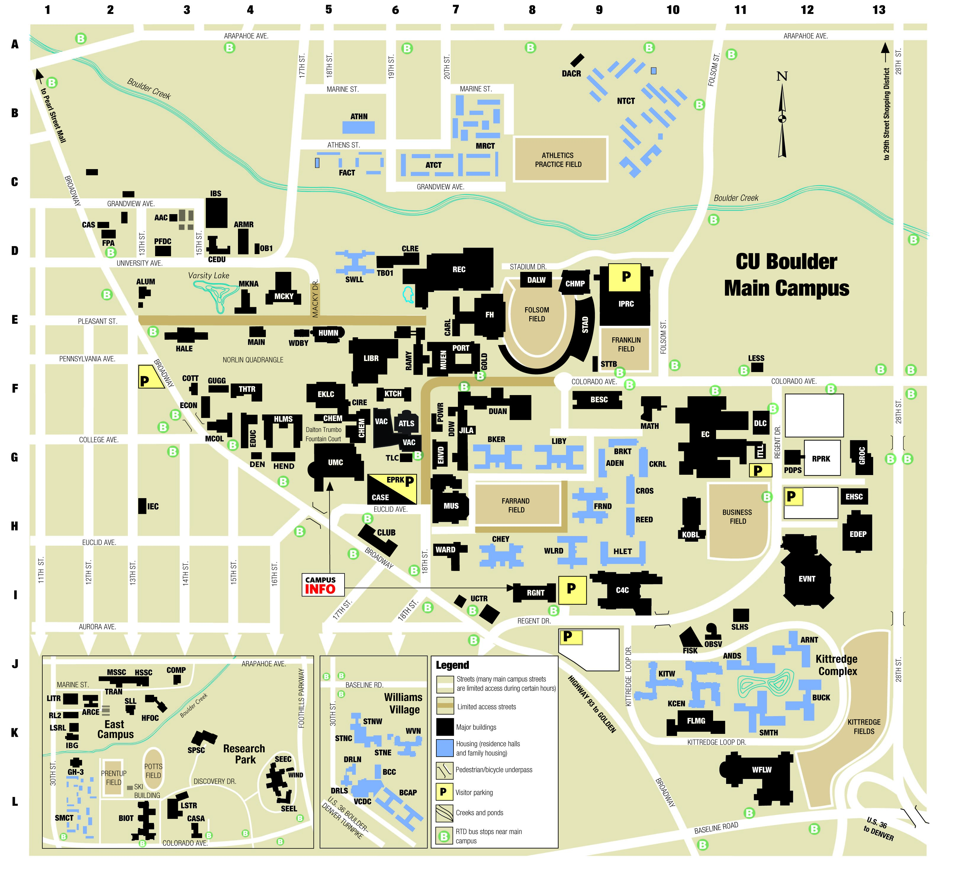 CU Campus Map | University of Colorado Online Visitor's Guide